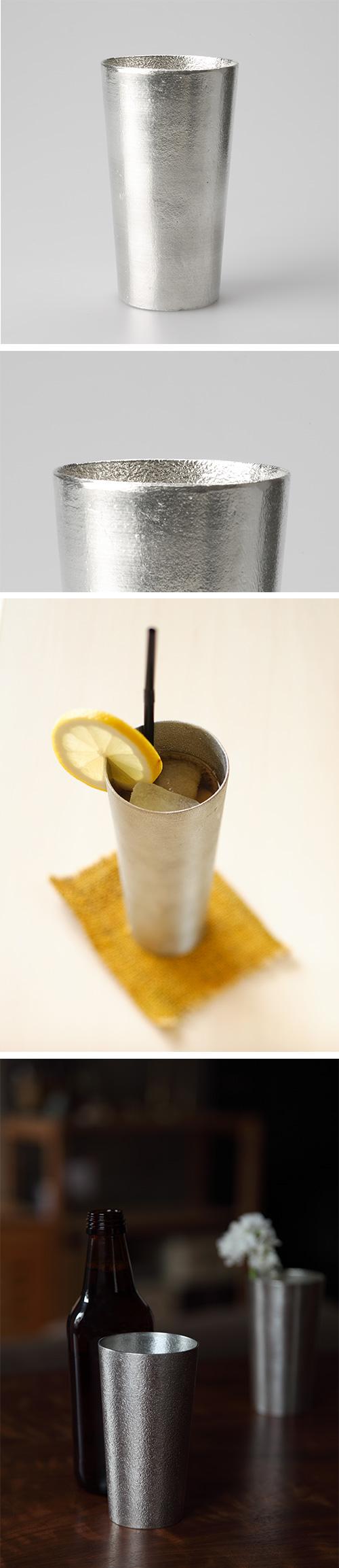 日本能作 純錫啤酒杯