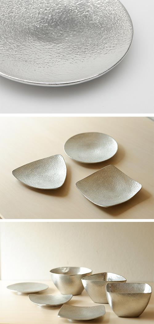 日本能作 純錫三角小盤