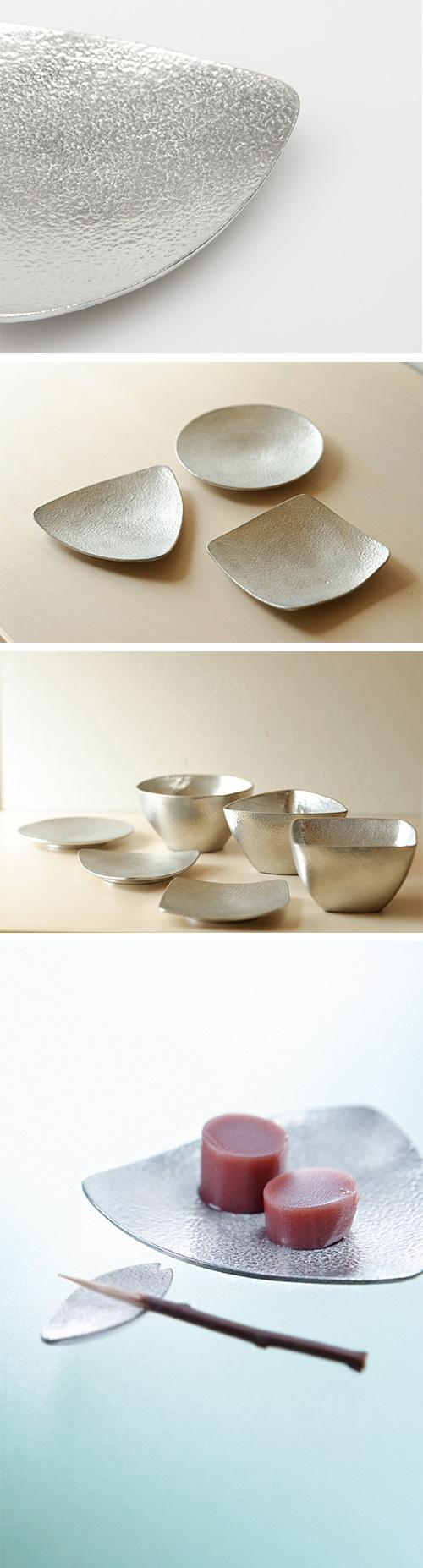 日本能作 純錫小盤 三角