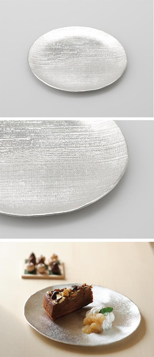 日本能作 純錫小圓盤 布紋