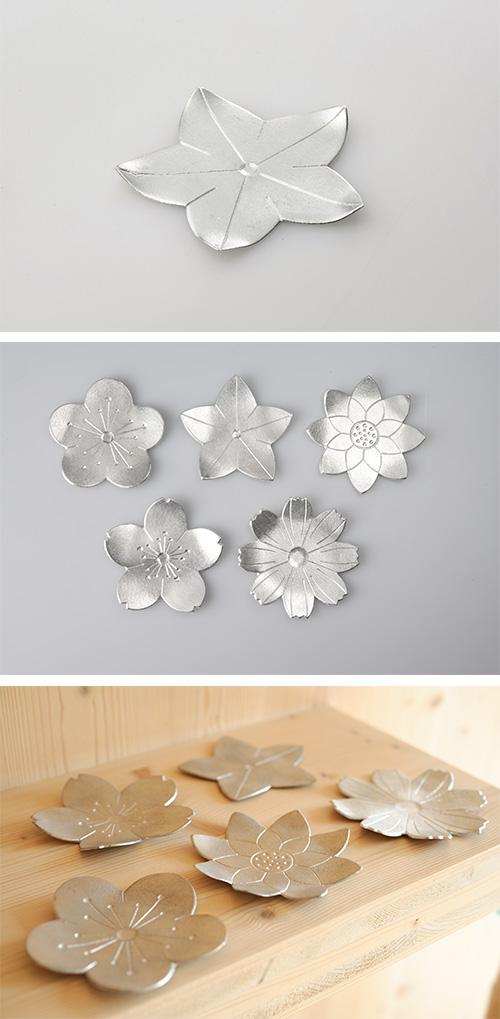 日本能作 純錫花托 桔梗