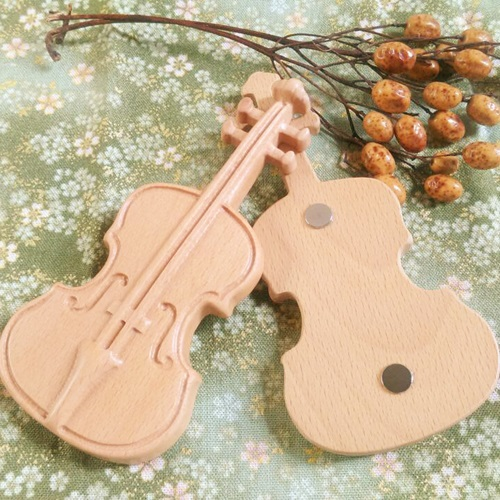 木城工坊 原木木作 大提琴磁鐵 基本款