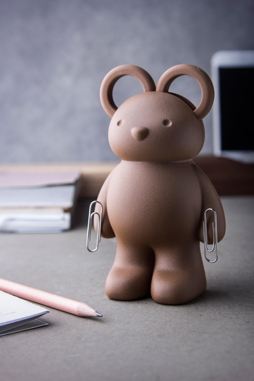 QUALY 泰迪熊剪刀組 白
