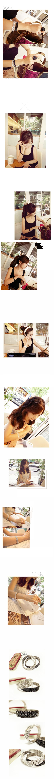 韓國 NaniWorld 高貴閃亮碎鑽氛圍手鍊 #34 黑色