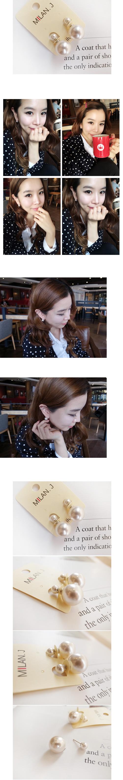 韓國 NaniWorld 俏麗珍珠耳飾 #2847