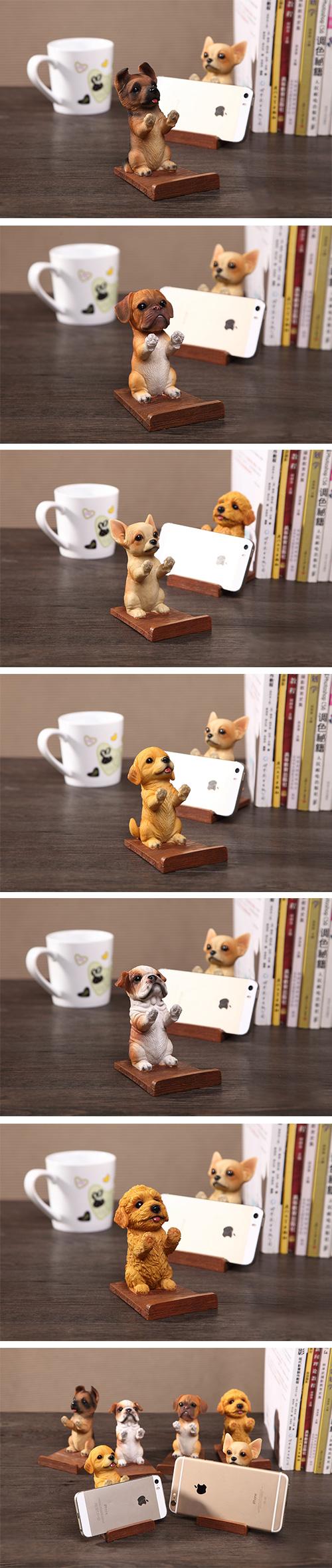 【4/1~5/9母親節9折優惠】創意小物館 萌寵手機座狗狗系列 貴賓狗