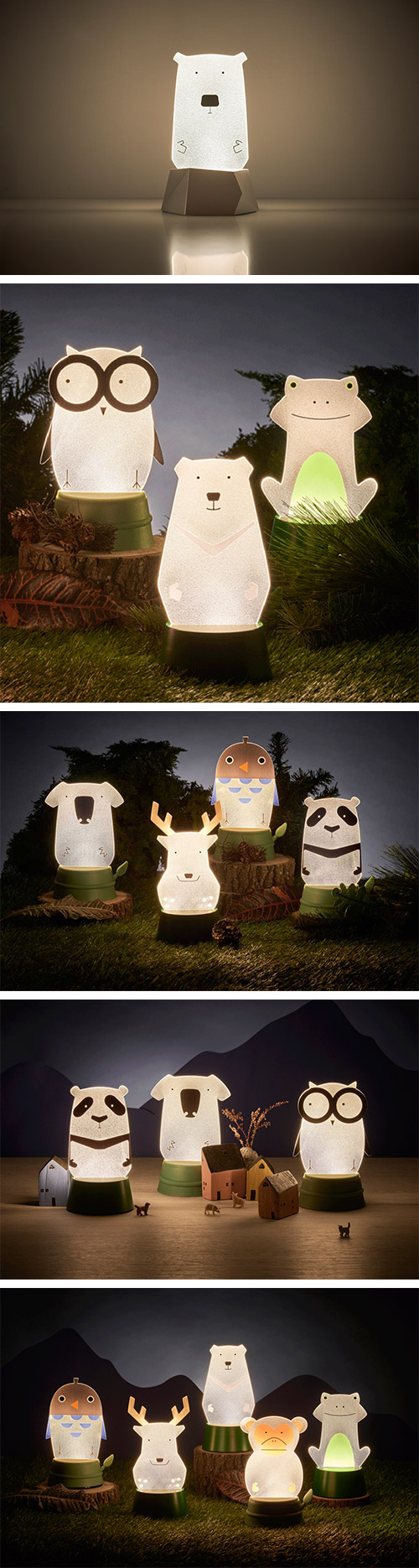 Xcellent LED 可愛夜燈時光派對 北極熊