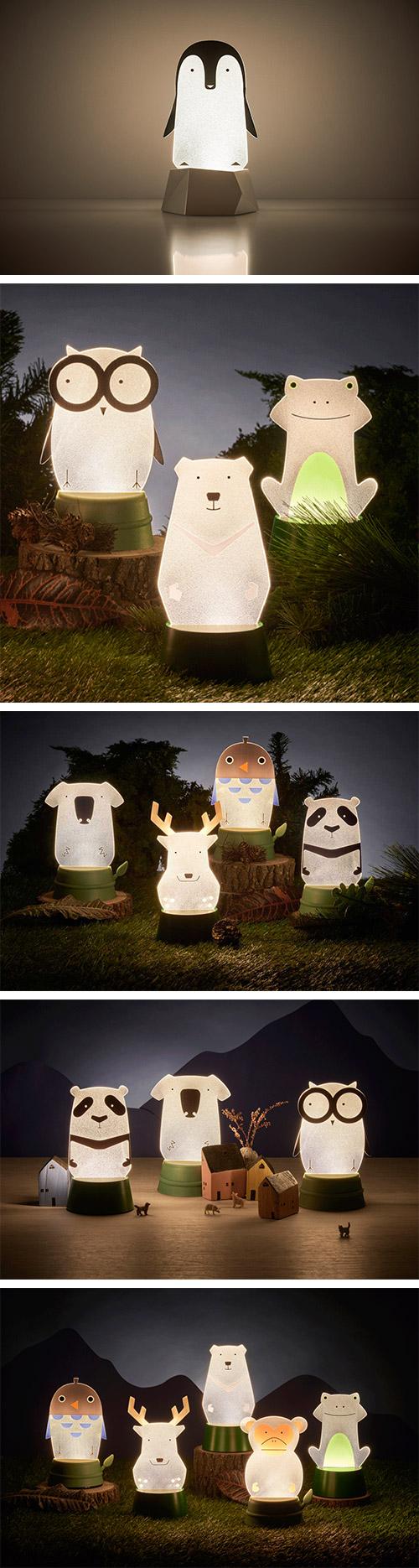 Xcellent LED 可愛夜燈時光派對 企鵝