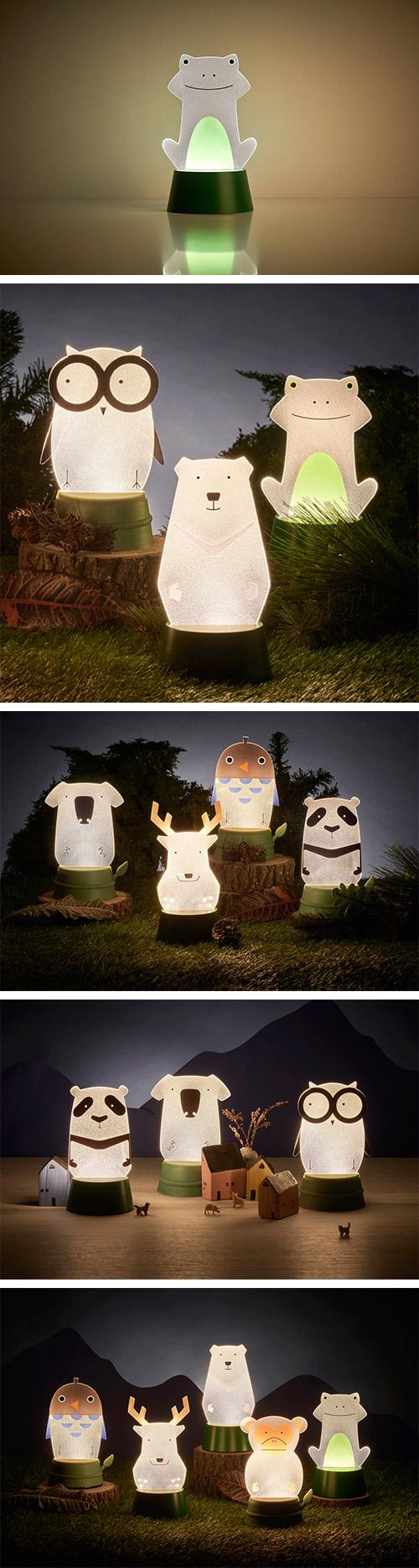 Xcellent LED 可愛夜燈時光派對 樹蛙