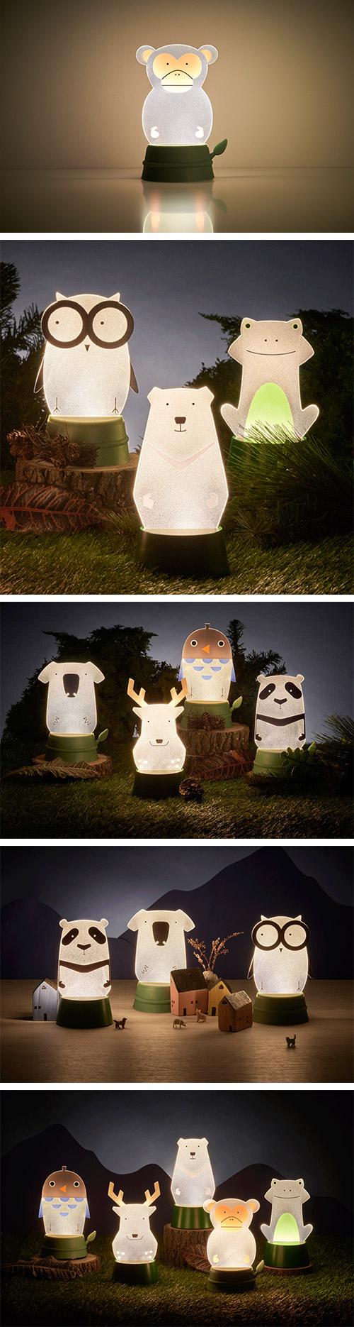 Xcellent LED 可愛夜燈時光派對 獼猴