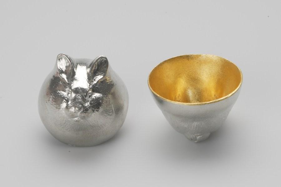 日本能作 金箔生肖造型杯 - 兔