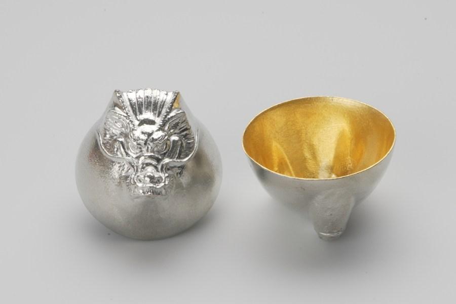 日本能作 金箔生肖造型杯 - 龍