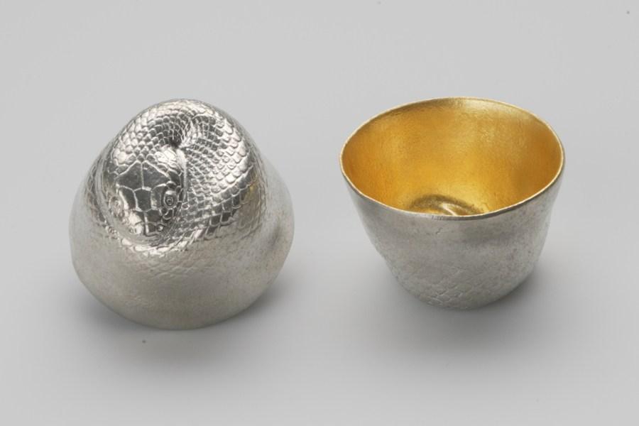 日本能作 金箔生肖造型杯 - 蛇