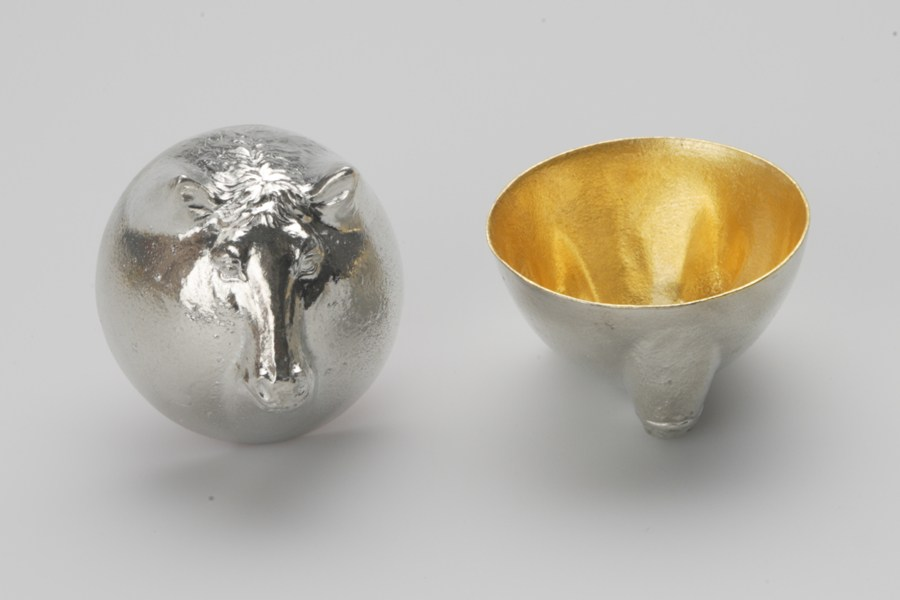 日本能作 金箔生肖造型杯 - 馬