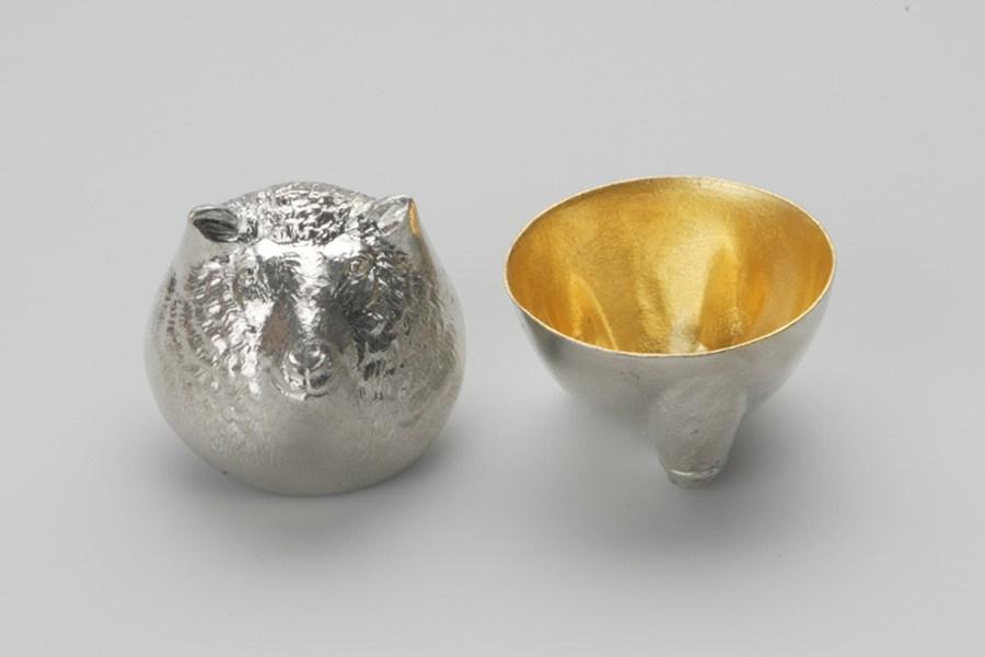 日本能作 金箔生肖造型杯 - 羊
