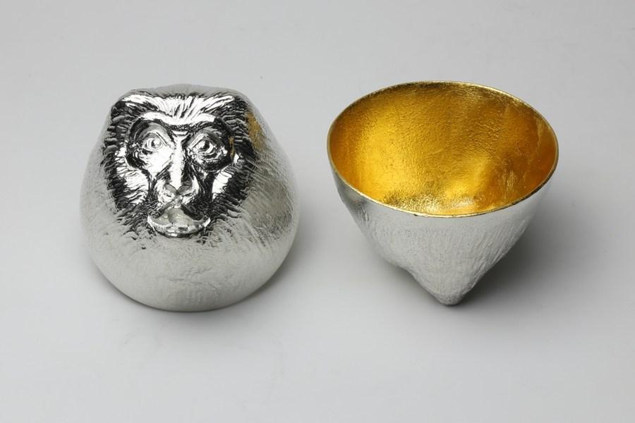日本能作 金箔生肖造型杯 - 猴