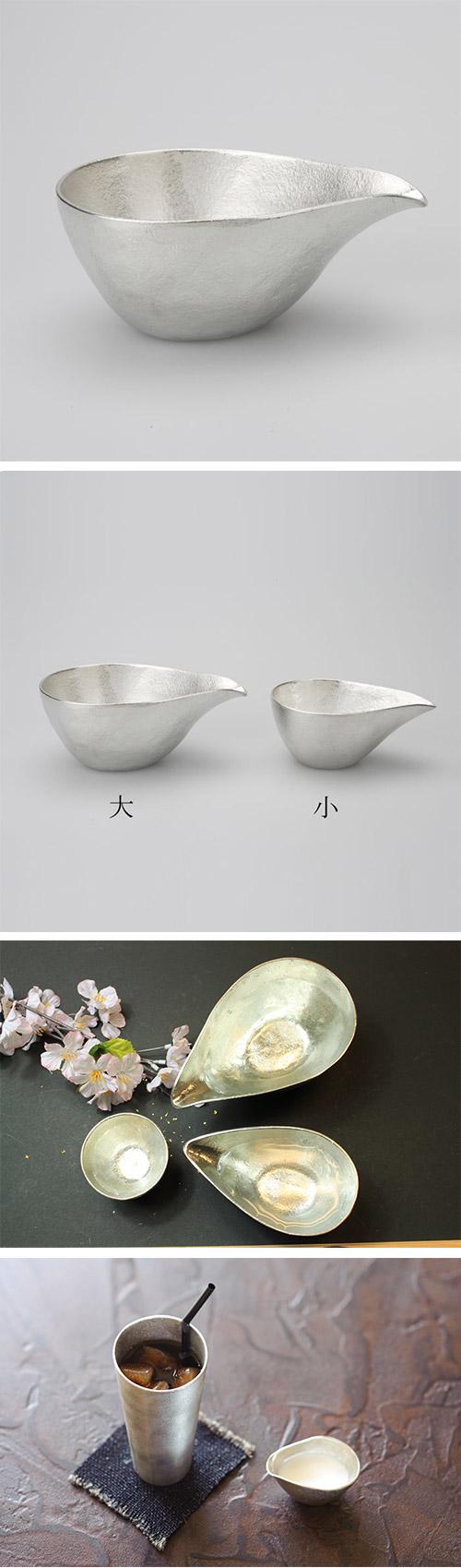 日本能作 純錫片口盅 - L