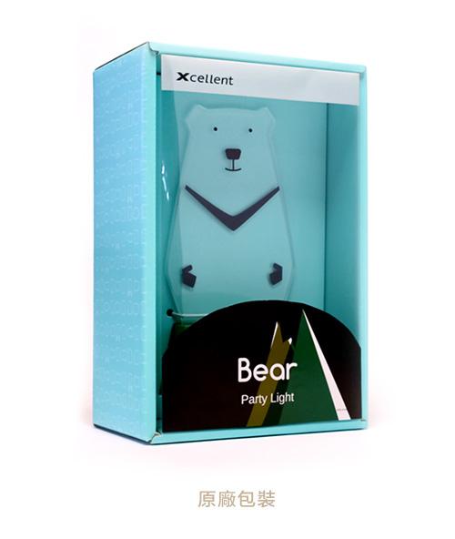 Xcellent LED 可愛夜燈時光派對 台灣黑熊