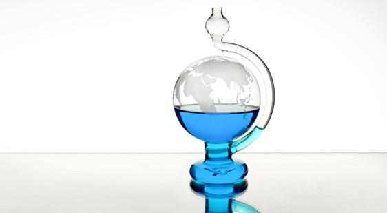 賽先生科學工廠 玻璃氣壓球 (晴雨儀) 世界地圖版(自)