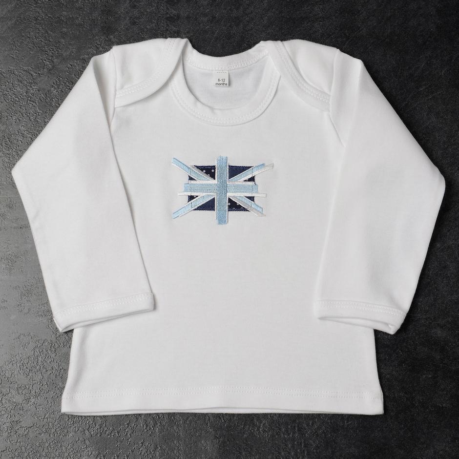 Daisy Roots 英國手工T恤 0~6M (禮盒裝) 藍色國旗