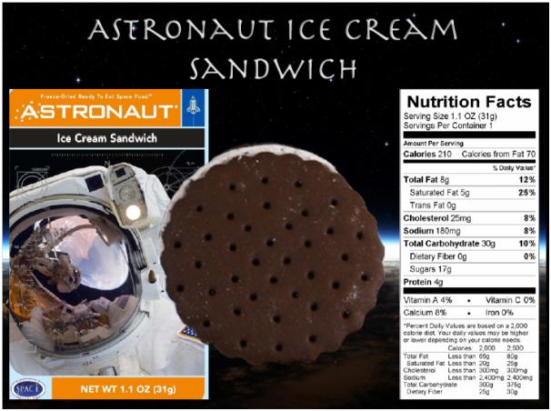 賽先生科學工廠 太空食品 冰淇淋餅乾 巧克力香草夾心