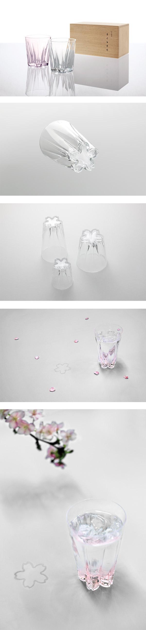 日本 Perrocaliente SAKURASAKU 櫻花杯 雙入同款同色 威士忌杯 透明