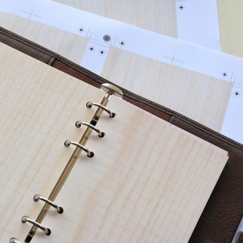 木入三分 木皮革筆記本