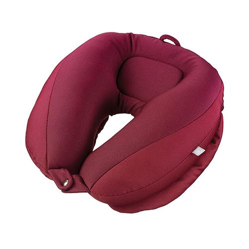 Go Travel 雙層可調式頸枕(暗紅)