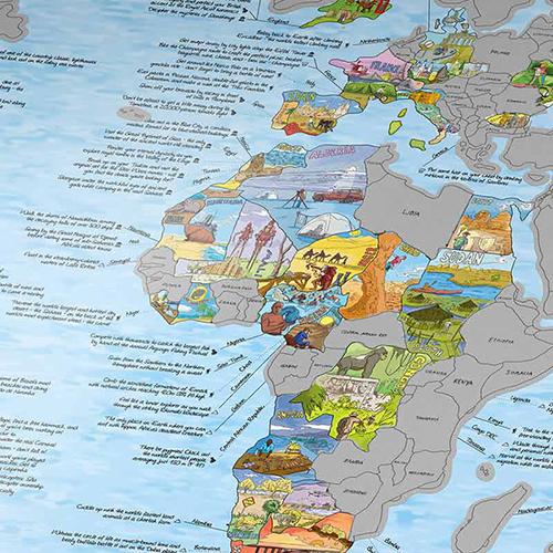 Awesome Maps Bucketlist世界地圖 - 刮刮樂版