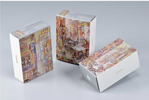 幼瀨伍號 藝術系列〈郭雪湖 南街殷賑〉精裝禮盒