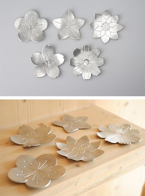 日本能作 純錫花托 櫻花