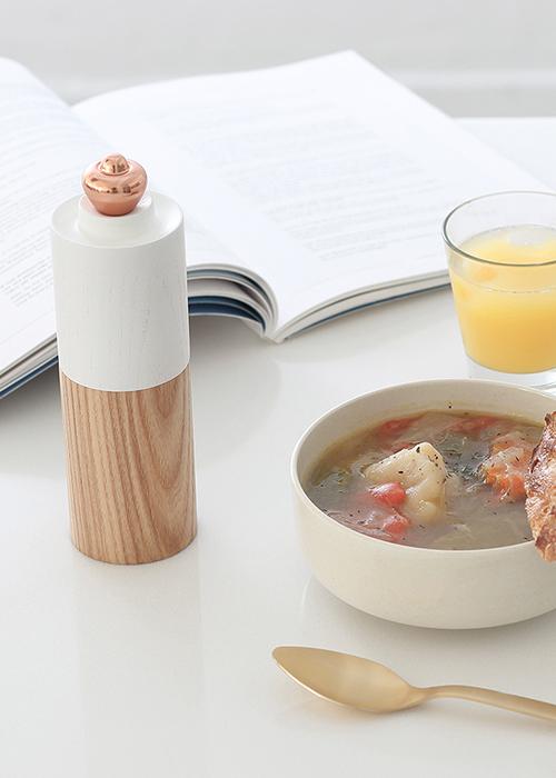 美國 BONNSU|倒映木質椒鹽罐–木頭頭(白木頭)