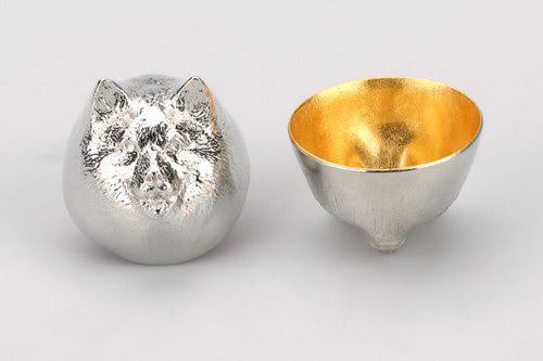 日本能作 金箔生肖造型杯 - 狗