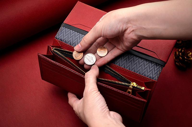 【拉鍊夾層x1】輕鬆收納零錢與隨身小物
