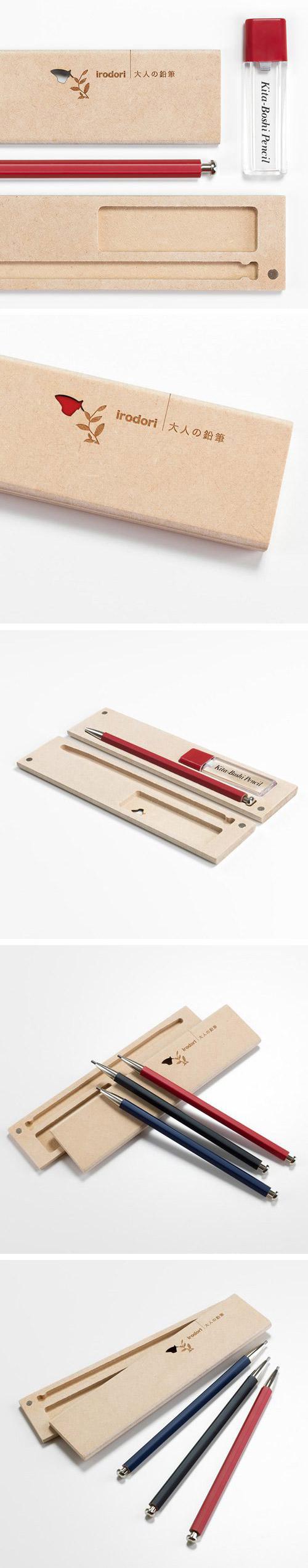 北星大人鉛筆 彩 木質筆盒組 紅色