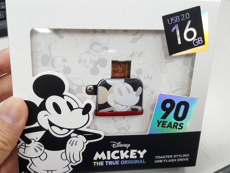 【11/10~12/25聖誕感謝祭95折】InfoThink 米奇系列烤吐司機造型隨身碟 (幻彩鐳射款) 16GB