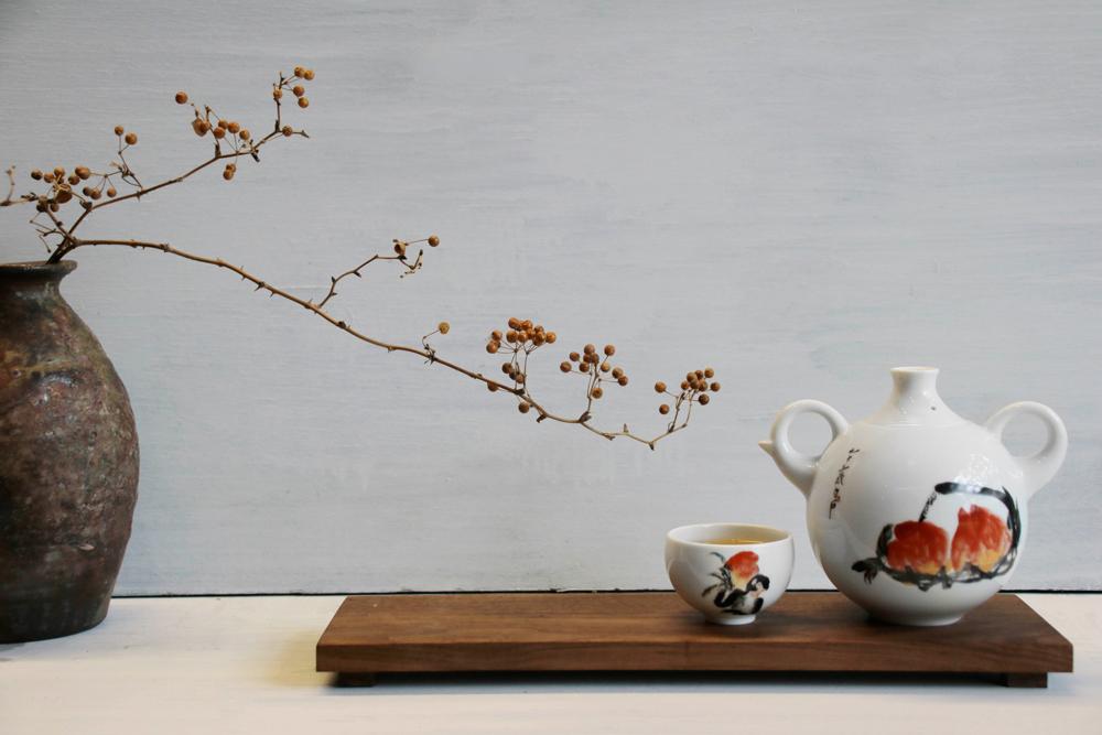 TALES 神話言 桃喜-祥猴獻瑞品茗茶具組(4人)‧齊白石