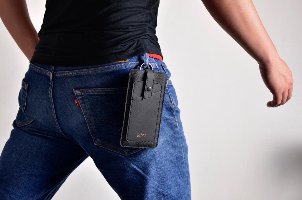 腰掛使用|圓形鈎可掛於褲子皮帶環上,率性俐落!