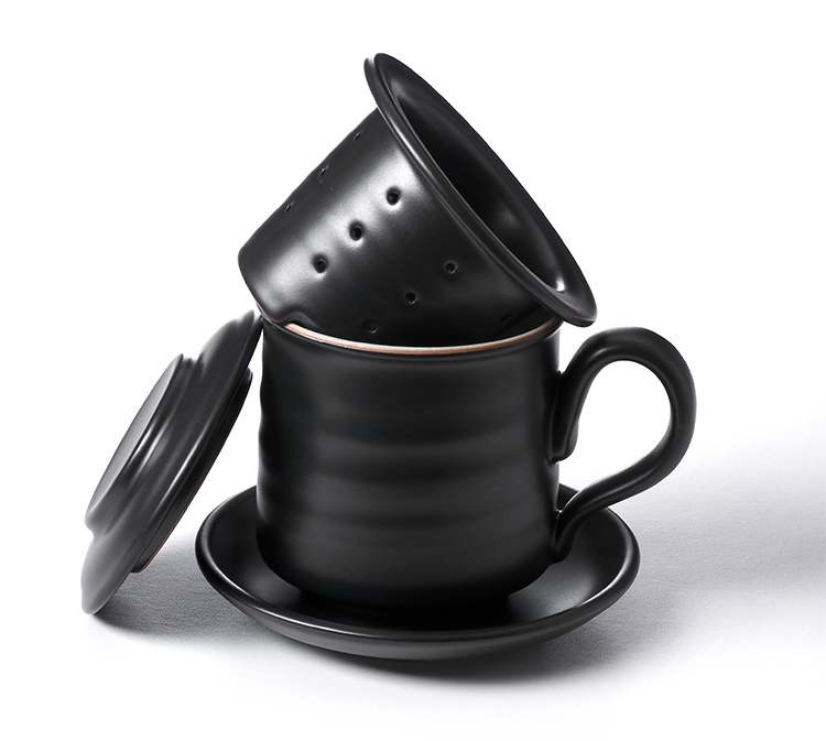陶作坊│黑陶同心杯好茶禮盒組(黑陶同心杯+老欉紅茶20克)