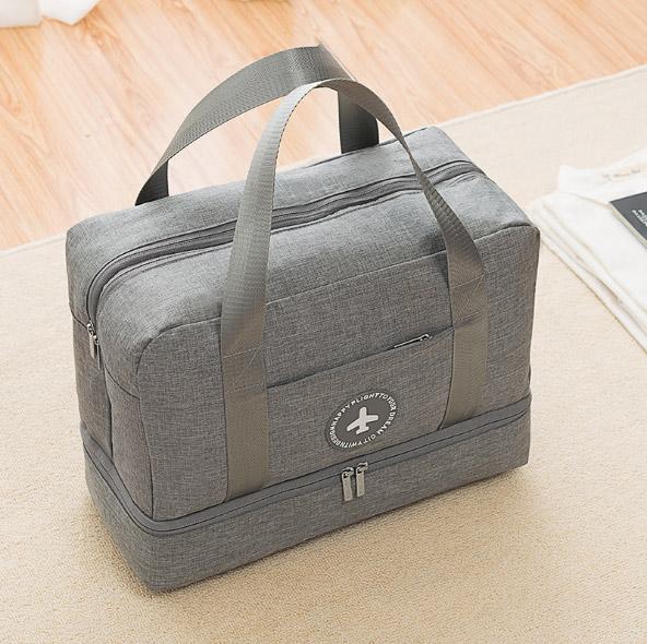 家居生活雜貨舖 簡約時尚乾濕分離旅行運動包 鐵灰色