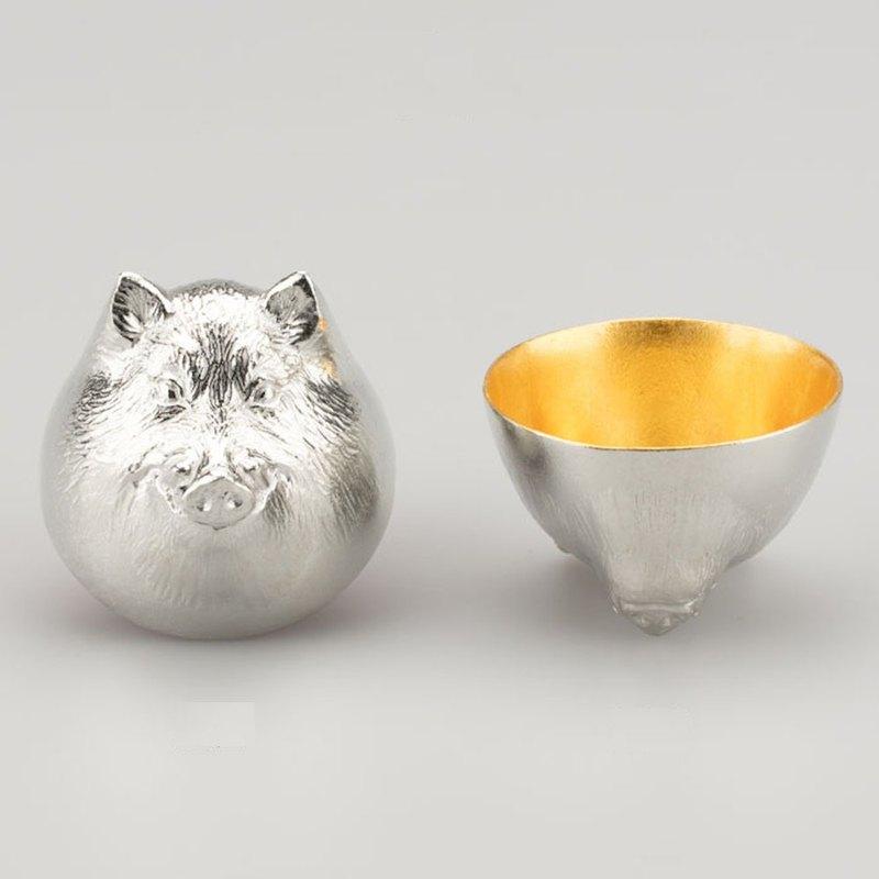 日本能作 金箔生肖造型杯 - 豬