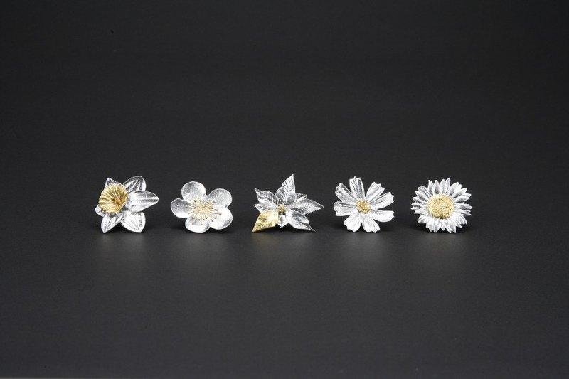日本能作 純錫胸花 水仙