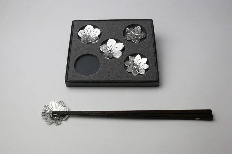 日本能作 有花勘折純錫筷架