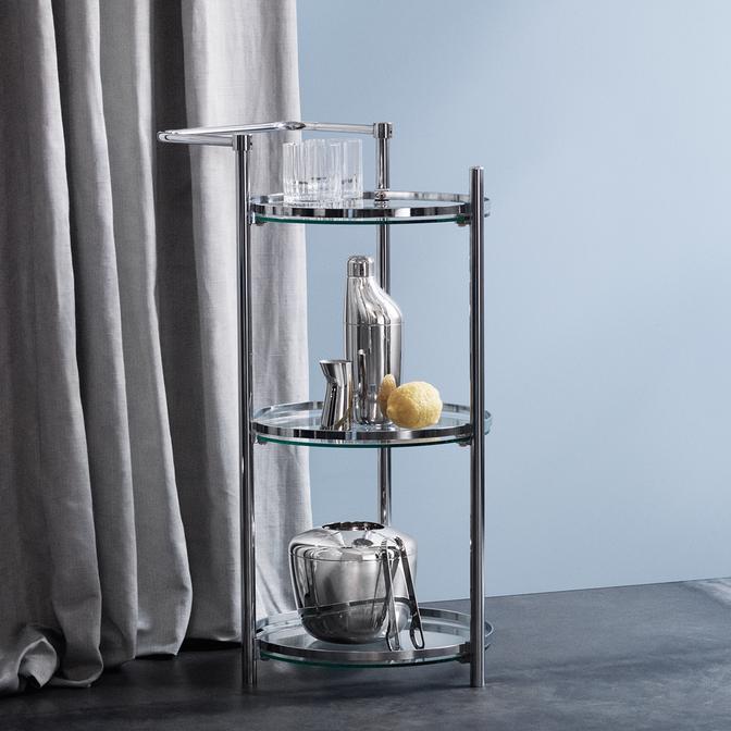 丹麥 Georg Jensen Giftset Sky Collection 天空系列 不鏽鋼 調酒器 / 攪拌匙 / 調酒量杯 - 三件式禮盒組