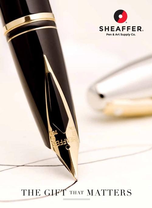 【可雷雕】美國 SHEAFFER 西華 Sagaris 鋼筆 亮鉻幼號筆尖
