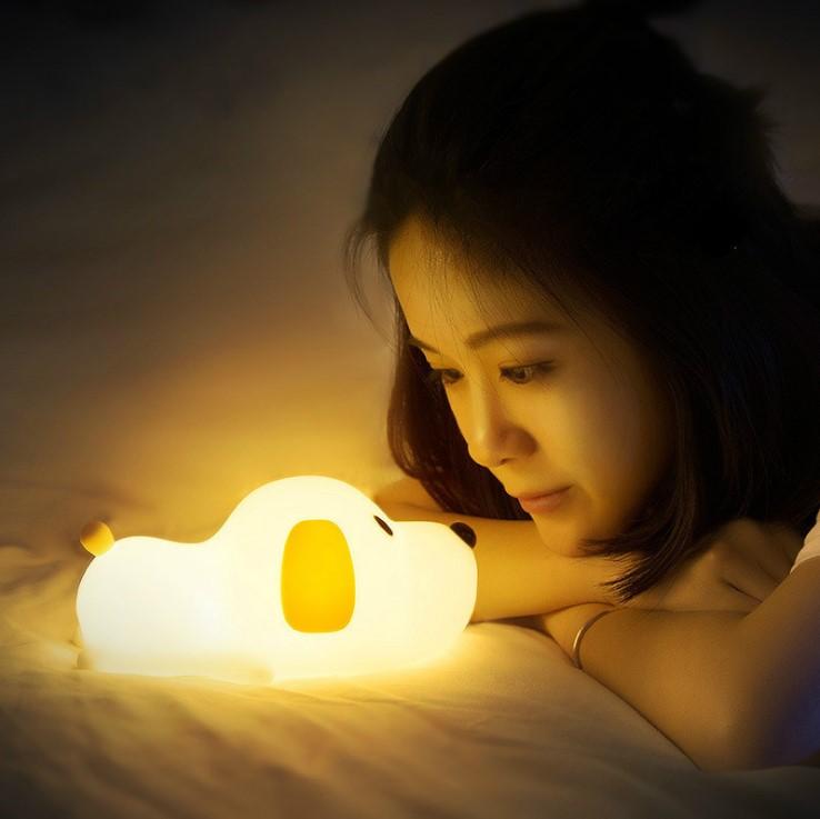 【11/10~12/25聖誕感謝祭95折】創意小物館 萌寶呆呆汪小狗拍拍定時夜燈
