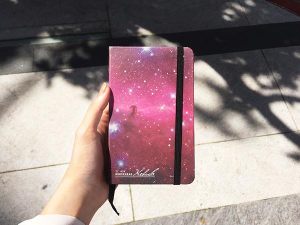 上班、上課筆記不再無聊,它能感受你的溫度,一本會變色的筆記本! 伸出你的手觸摸筆記本的表面,透過溫度的變化,你將會看到星雲奇蹟般的浮現出來。
