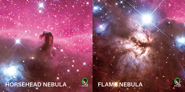 書封採用特殊感溫材質,遇到溫度即會變化出隱藏的星空。 分別潛藏在筆記本正反面的是位於獵戶座著名的馬頭星雲 (IC 434)以及火焰星雲 (NGC 2024)。