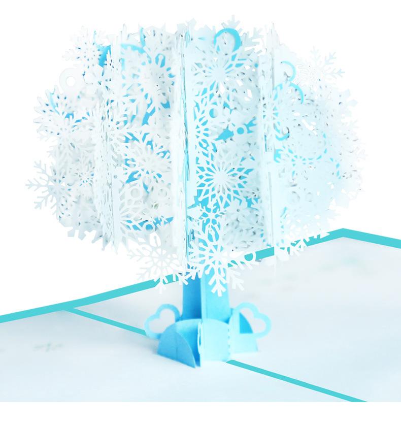 卡片提袋包材館 [自寫卡片]  雪花聖誕樹賀卡