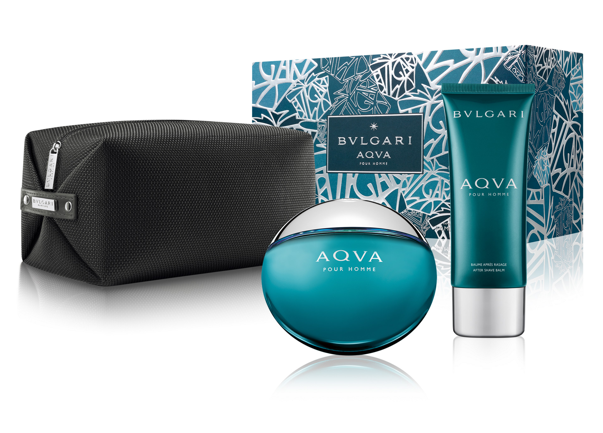 BVLGARI 水能量香氛禮盒 (100ml淡香水+100ml鬍後乳+盥洗包)